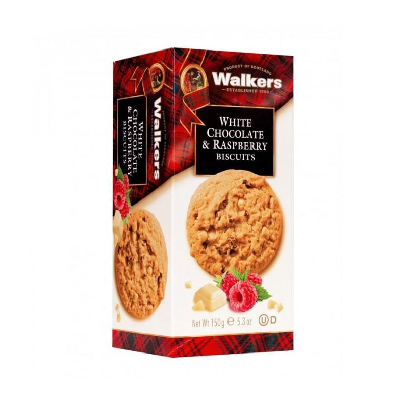 GALLETAS WALKERS CON CHOCOLATE BLANCO Y FRAMBUESA