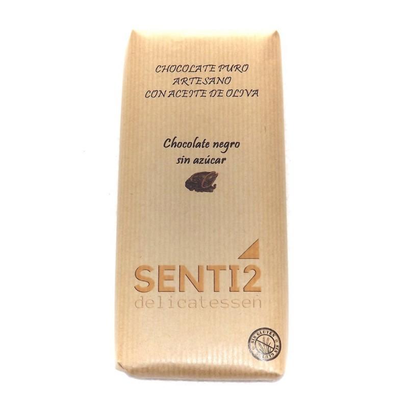 CHOCOLATE NEGRO SIN AZUCAR ELABORADO CON ACEITE VIRGEN EXTRA SENTI2