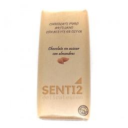 CHOCOLATE SIN AZÚCAR CON ALMENDRAS ELABORADO CON ACEITE EXTRA VIRGEN SENTI2