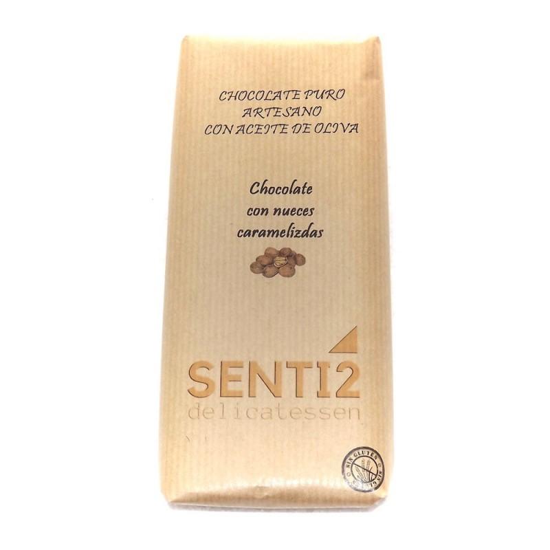 CHOCOLATE CON NUECES ELABORADO CON ACEITE OLIVA VIRGEN EXTRA SENTI2
